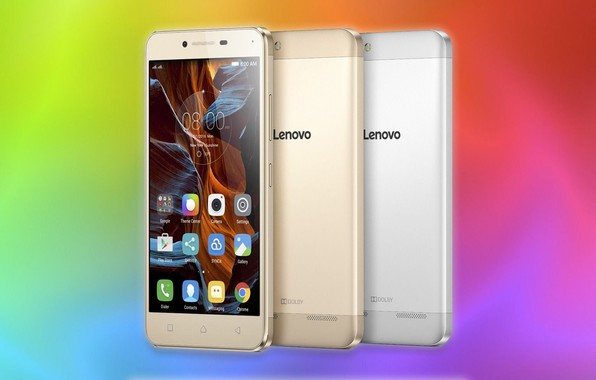 Picture silver, Golden, dolby, colorful background, Lenovo, smartphones