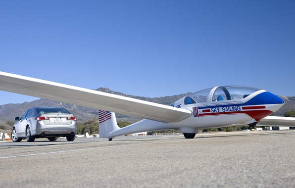 Picture sport, wings, car, glider, Acura