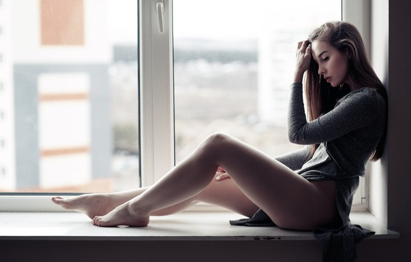Picture Girl, long hair, dress, legs, brown hair, photo, photographer, barefoot, model, bokeh, lips, face, portrait, …