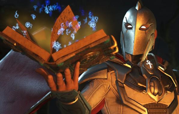 Picture game, magic, book, hero, DC Comics, pearls, uniform, super hero, symbols, ankh, Injustice 2, Doctor …