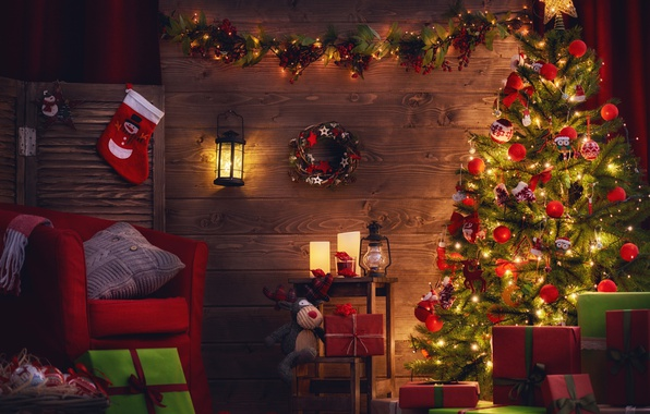 Picture New Year, Christmas, merry christmas, interior, decoration, christmas tree, holiday celebration