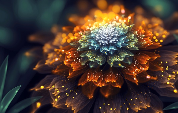 Picture flower, fractal, by SallySlips