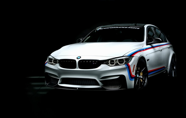 Picture BMW, BMW, black background, 3-Series, F80