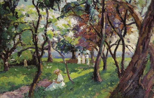 Picture landscape, picture, The Family at the Park of Salvar Nievre, Emmanuel De La Villion