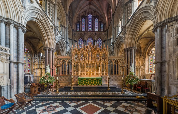 Picture interior, Cambridgeshire, UK, Diliff, Ely Cathedral