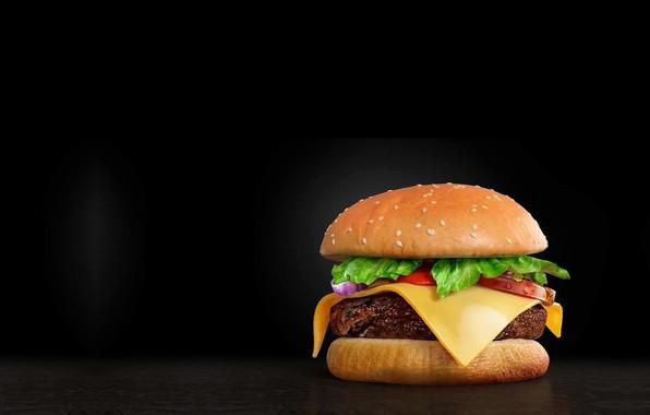 Picture food, minimalism, art, Burger, Burger, Mendez Cakson