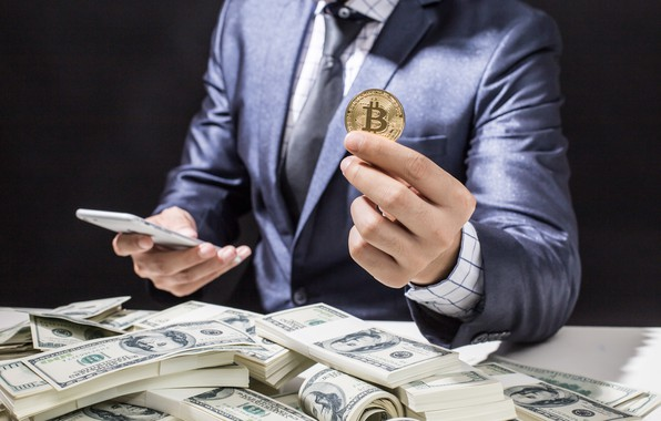 Picture money, business, bitcoin, dolars