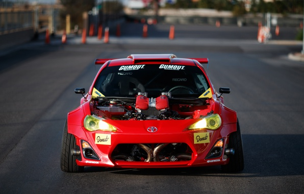 Picture engine, tuning, photographer, Ferrari, front view, motor, Toyota GT86, Larry Chen, Engined