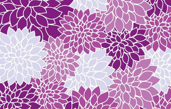Picture purple, flowers, retro, background, texture, Dahlia