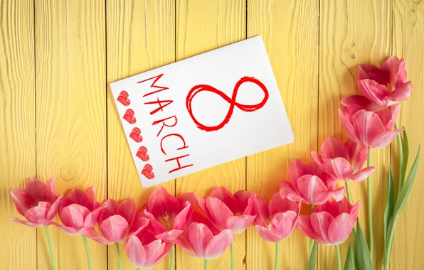 Wallpaper flowers, tulips, love, March 8, pink, romantic, tulips, gift