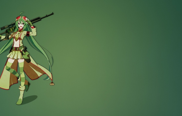 Picture gun, weapon, anime, sniper, Flygon Sniper