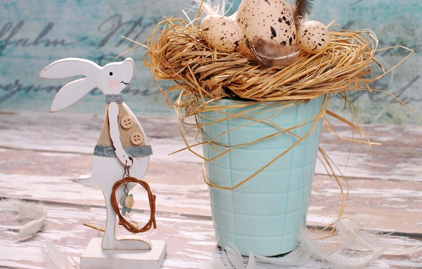 Picture holiday, eggs, rabbit, Easter, decor, Easter, eggs
