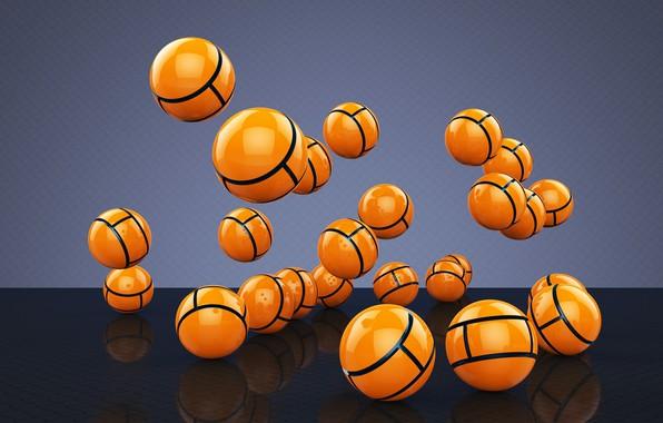 Picture background, balls, yellow balls