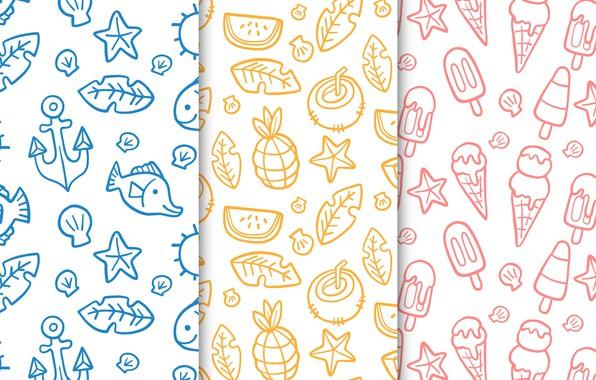 Picture summer, Wallpaper, summer, patterns