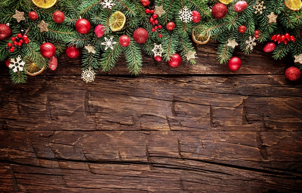 Picture New Year, Christmas, christmas, balls, wood, merry christmas, decoration, xmas, fir tree