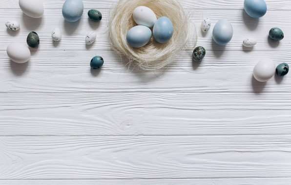 Picture eggs, blue, Easter, white, white, wood, blue, spring, Easter, eggs, decoration, Happy, tender