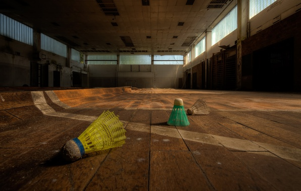 Picture hall, badminton, flounce