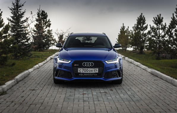 Picture Audi, Russia, Blue, Front, Before, RS6, VAG