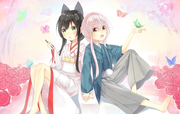Picture girls, anime, art, Chiya, Kon Tatsumi, Urara Meirochou