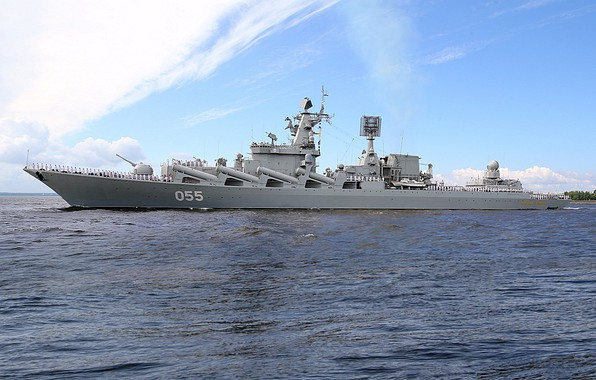 Wallpaper Navy, missile cruiser, the project 1164, Marshal ...