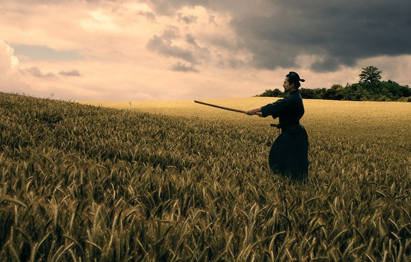 Photo wallpaper cinema, sky, cloud, katana, movie, ken, blade, kimono, kumo, bushido, fim, Last Samurai