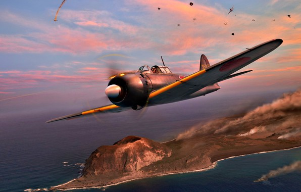 Picture figure, Japan, Mitsubishi, The second World war, Zero, Travel, The Navy of Imperial Japan, piston …