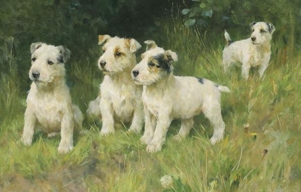 Picture English painter, Arthur Wardle, The younger generation, Arthur Wardle, British painter, The rising generation