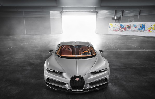 Picture Bugatti, Turbo, Silver, VAG, W16, Sight, Chiron