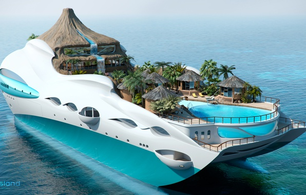 Picture the project, superyacht, Futuristic, the yacht-island, gesign, Yacht island, tip 3