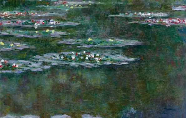 Photo Wallpaper Flowers Claude Monet Picture Water Lilies Nature Pond