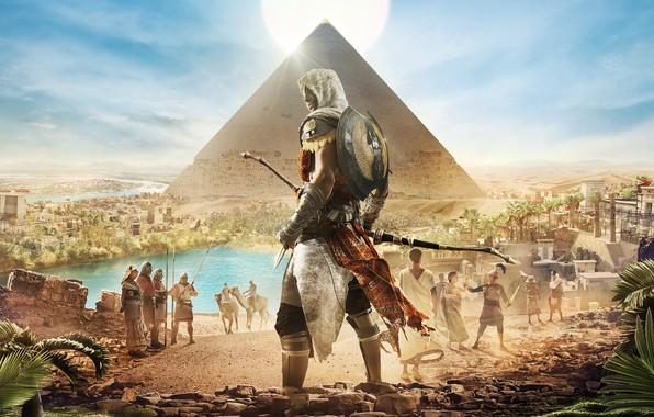 Picture Pyramid, Egypt, Origins, Ubisoft, Assassin's Creed, Assassin's Creed: Origins, Bayek