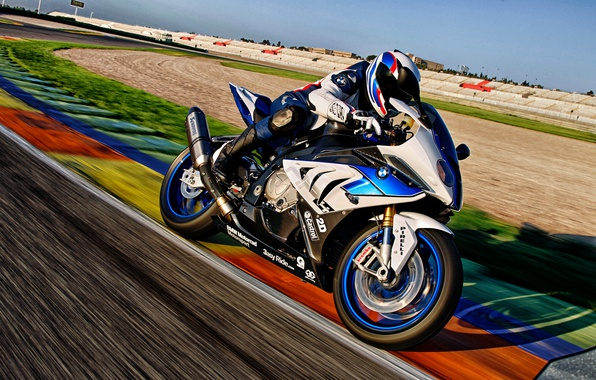 Picture sport, BMW, track, BMW, motorcycle, HP4
