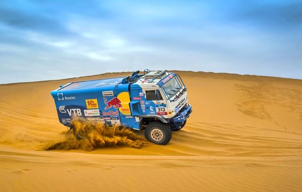 Photo wallpaper The sky, Sand, Nature, Sport, Speed, Truck, Race, Master, Beauty, Russia, Beast, Kamaz, Rally, Rally, ...