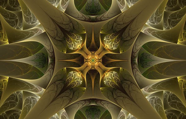 Photo wallpaper green, khaki, pattern
