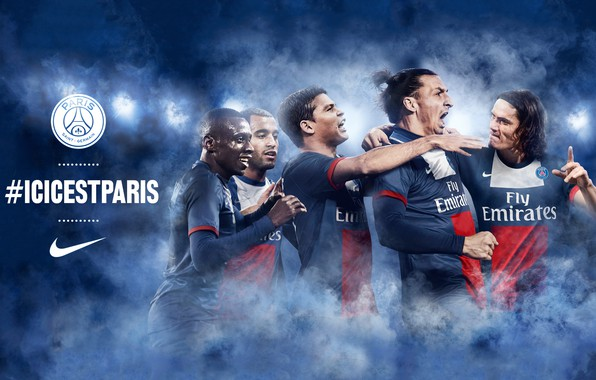 Photo Wallpaper Football Sport Paris Saint Germain Players Logo