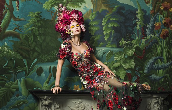Picture girl, pose, photo, model, figure, dress, Vogue, Kendall Jenner