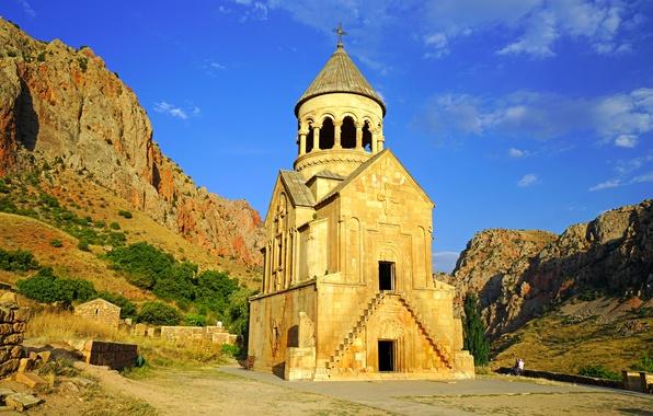 Picture mountains, temple, Armenia, Noravank, Burtelashen, Surb Astvatsatsin