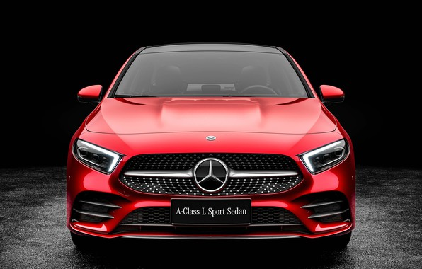 Picture Mercedes-Benz, front view, Sedan, A-Class, 2019, A200, L Sport