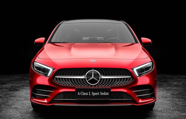 Picture Mercedes-Benz, front view, Sedan, A-Class, 2019, A200, L Sport
