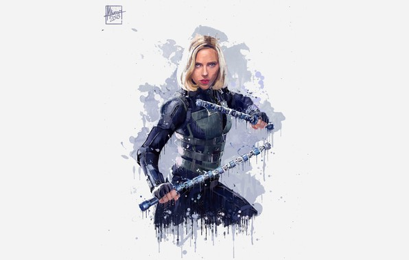 Picture Figure, Blonde, Scarlett Johansson, Costume, Actress, Hero, Movie, Scarlett Johansson, Superhero, Hero, The film, Fiction, …