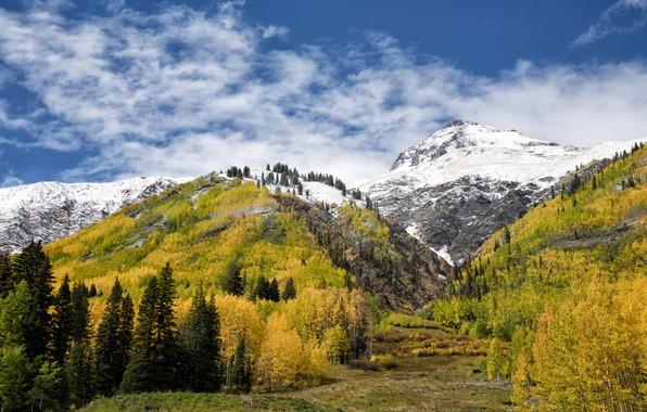 River 5k Retina Ultra Hd Wallpaper: Wallpaper Autumn, Snow, Landscape, Mountains, Hdr