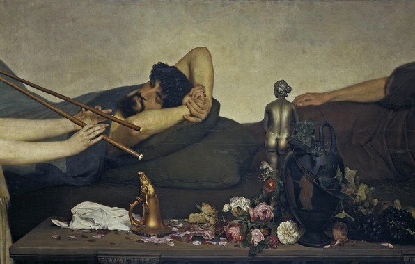 Photo wallpaper Lawrence Alma-Tadema, Pompeian Scene, Lawrence Alma-Tadema, history, genre, picture