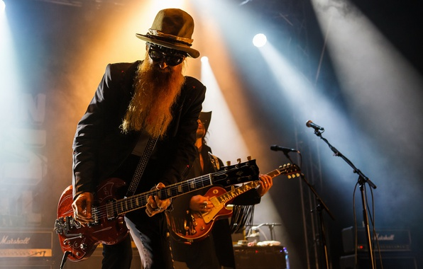 Picture guitar, Notodden Blues Festival 2016, Billy F Gibbons