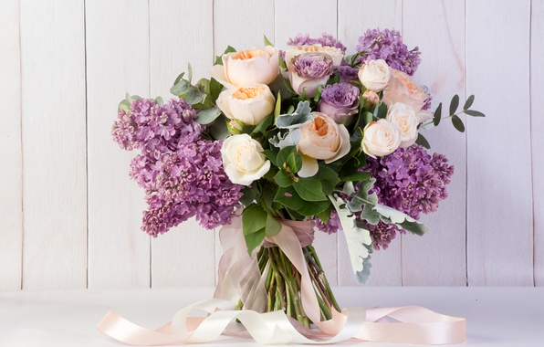 Picture roses, bouquet, tape, lilac