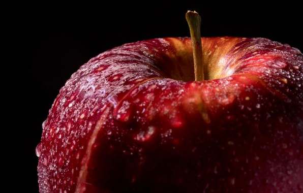 Picture drops, red, Apple