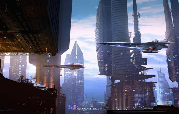 Picture facilities, Raphael Lacoste, flying machines, Landing Scene