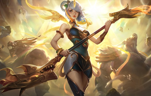 Picture Art, Splash, Lux, League of Legends, LoL, Suite, Artwork, League Of Legends, Lunar Empress