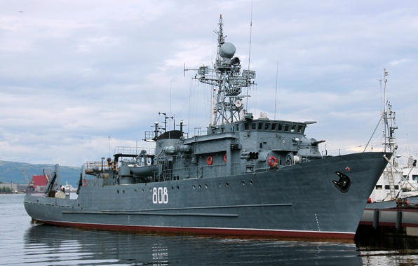Picture Navy, sea, minesweeper, Gunnie, project 266m