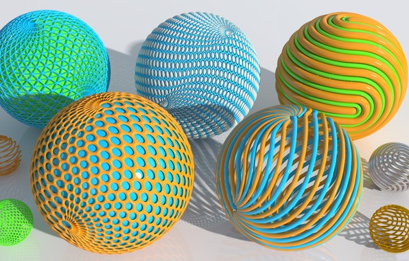 Picture background, balls, colored