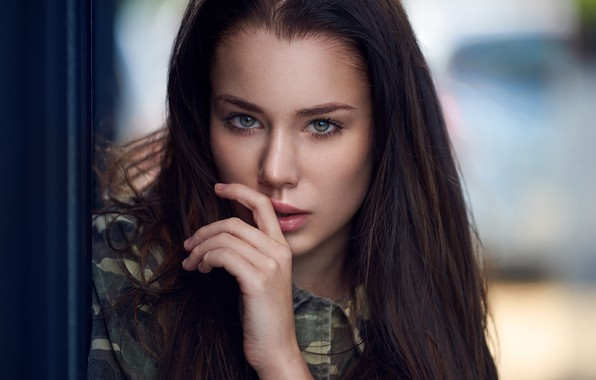 Picture look, face, model, hand, portrait, makeup, hairstyle, brown hair, beauty, bokeh, Paulina, Ariel Grabowski